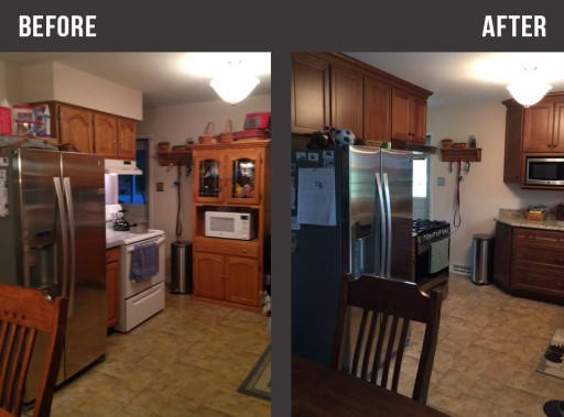 Before After Fridge Kitchen Area