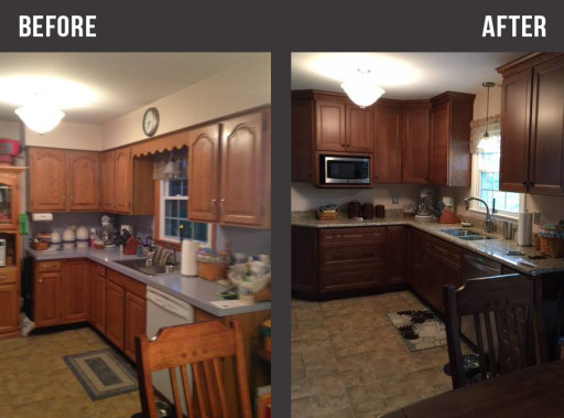 Small Kitchen Renovation In Hagerstown Maryland Before And After Sink